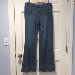 Lucky Brand wide leg lightweight jeans